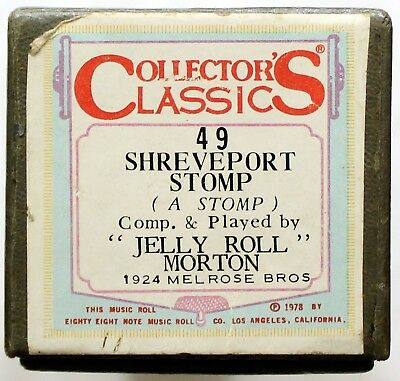 "JELLY ROLL MORTON ""Shreveport Stomp"" COLLECTORS CLASSICS 49 [PIANO ROLL]"