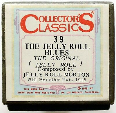 "JELLY ROLL MORTON ""The Jelly Roll Blues"" COLLECTORS CLASSICS 39 [PIANO ROLL]"