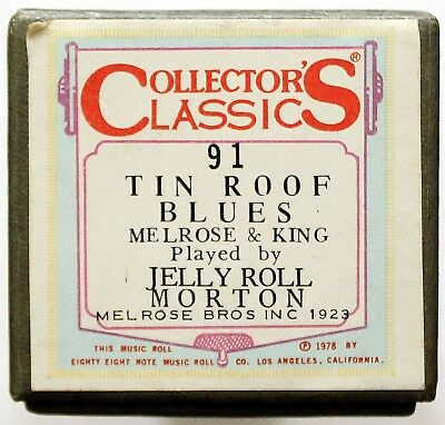 "JELLY ROLL MORTON ""Tin Roof Blues"" COLLECTORS CLASSICS 91 [PIANO ROLL]"