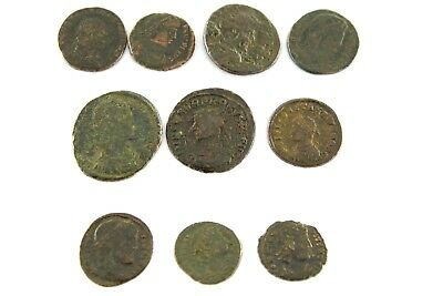Lot of Ten Roman Imperial  Bronze Coins.   1v315