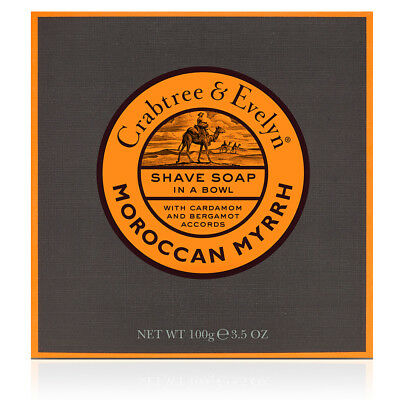 NEW Crabtree & Evelyn Moroccan Myrrh Shave Soap in a Bowl