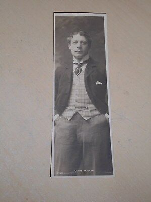 EARLY 1900s BOOKMARK POSTCARD - EDWARDIAN ACTOR - LEWIS WALLER - VGC