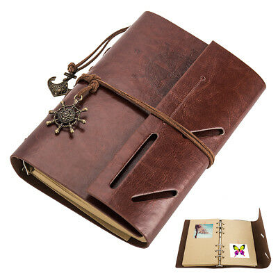 AU Scrapbook Album, DIY Leather Photo Album Travel Memories Album A4 Photo NEW