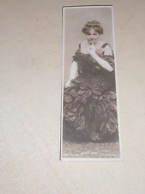 EARLY 1900s BOOKMARK POSTCARD - EDWARDIAN ACTRESS - LETTY LIND - VGC