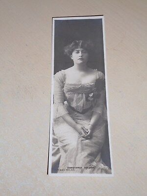 EARLY 1900s BOOKMARK POSTCARD - EDWARDIAN ACTRESS - CONSTANCE COLLIER - VGC