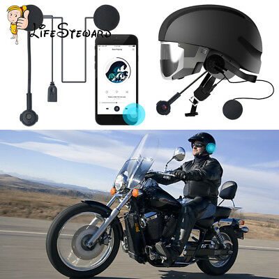 Motorcycle Helmet Headset Speakers Mic Bluetooth Handsfree Call Control CSR8635