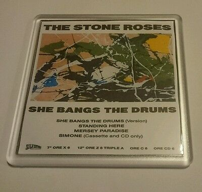 STONE ROSES COASTER SHE BANGS THE DRUMS  cd vinyl rare ticket poster t shirt