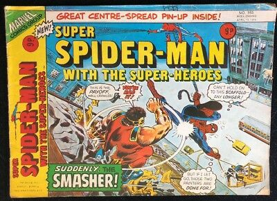 Super Spider-Man with The Super-Heroes 165 Marvel Comics Group 1976