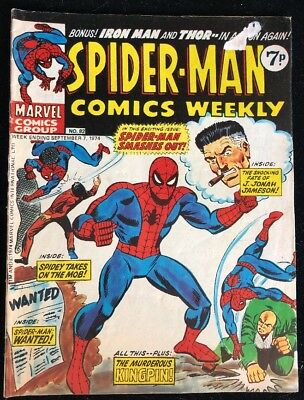 Spider-Man Comics Weekly 82 Marvel Comics Group 1974