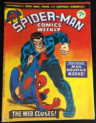Spider-Man Comics Weekly 86 Marvel Comics Group 1974