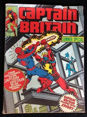 Captain Britain Summer Special Marvel Comics Group 1979