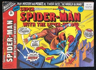 Super Spider-Man with The Super-Heroes 175 Marvel Comics Group 1976