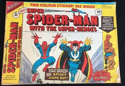 Super Spider-Man with The Super-Heroes 161 Marvel Comics Group 1976