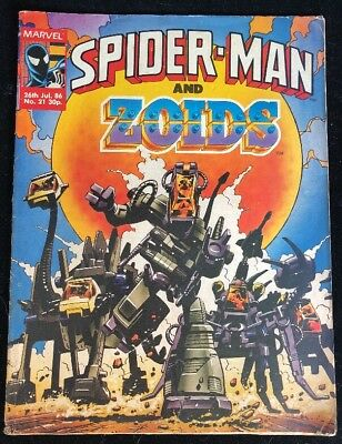 Spider-Man and Zoids 21 Marvel Comics Group 1986