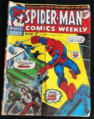 Spider-Man Comics Weekly 56 Marvel Comics Group 1974
