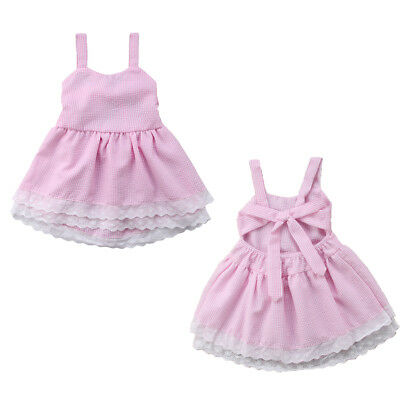 AU STOCK Cute Toddler Kids Girls Backless Pageant Bridesmaid Party Ball Dresses