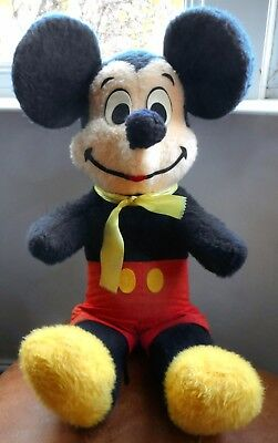 Authentic 1969 Mickey Mouse Soft Plush Toy 1960s Walt Disney Vintage Collectable