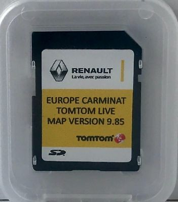 RENAULT SD CARD TomTom Carminat Live 9.85 Landkarten EUROPE 2017-2018 + Turkey
