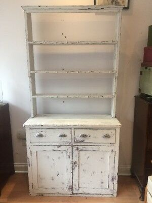 Antique French Oak Dresser With Plate Rack Sideboard Shabby Chic Free Uk P