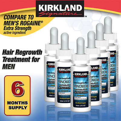 Kirkland Minoxidil 5% Hair Regrowth Solution Extra Strength Men 6 Month Supply
