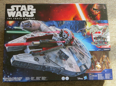 Star Wars The Force Awakens Battle Action Millenium Falcon Nerf Gun & 3 Figures