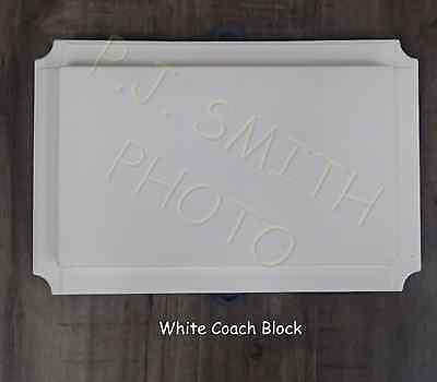 "White Vinyl Siding Large Coach J Block 11"" x 6-1/2"" Cover,"