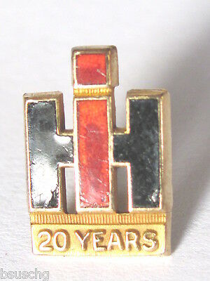 International Harvester Co Ihc Tractors Employee Service Pin 20 Year 10 K Gold L