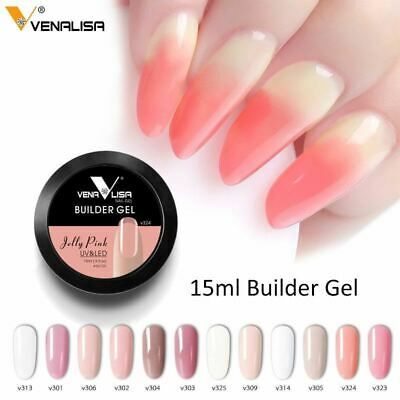 Nail Art Clear Color UV Led Glass Hard Jelly Quick Building Nail Extender