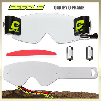 Kit Roll Off + 10 Tear Off Seecle Compatibili Con Maschere Oakley O-Frame