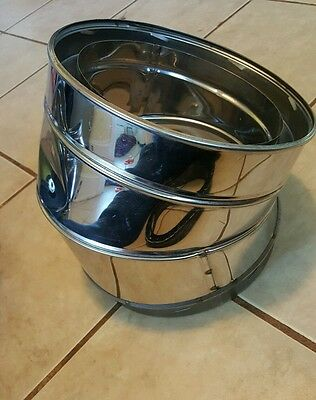 """Simpson Dura-vent 9666 30 degree elbow x1 8"""" chimney SS STAINLESS STEEL  HT"""