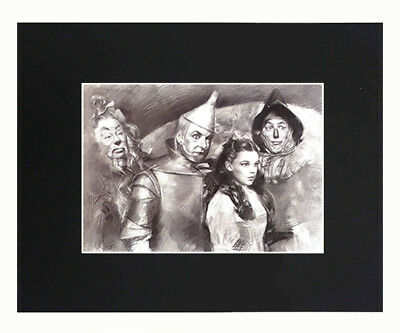 the wizard of oz 8x10 matted Art Print Printed Poster Decor picture Gift Artwork
