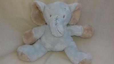 "Card Factory Tiny Treasures Comforter Soft Toy Blue Elephant 8"" gjj"