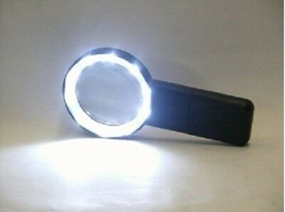 10 SUPER BRIGHT LED MAGNIFIER WITH 2.5 in. GLASS LENS