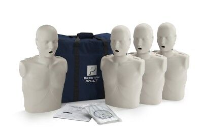 Prestan Adult CPR/AED Training Manikin (WITH monitor) 4 Pack Light Skin