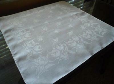 Vintage Lot 12 Single Large Irish Linen Damask Napkins Floral Catering