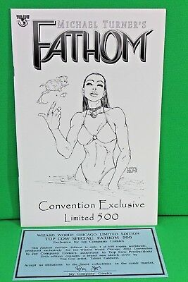 Fathom Preview Edition Sketch Cover Variant 500 Top Cow Image Comic Comics VF