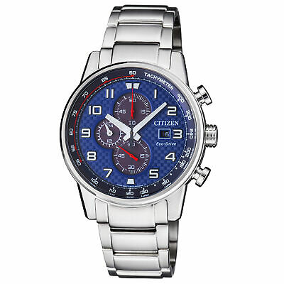 Citizen Primo Blue Dial Stainless Steel Men's Watch CA0680-57L