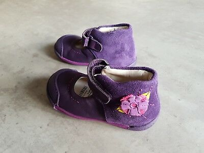 2bcba21cc CLARKS N SOFTLY First Purple Infant Girls Shoes