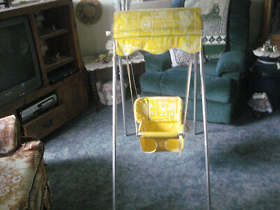Trimble ultra rare vintage antique wind up manual crank baby seat swing. works!