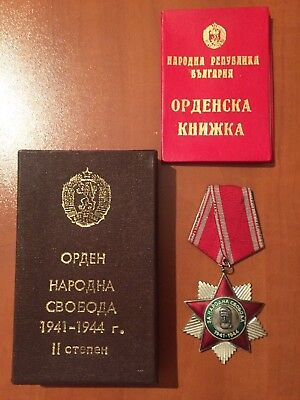 Bulgarian Communist order medal national liberty people's freedom WW2 box