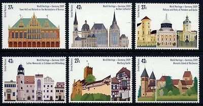 UN - NY . 2009 Germany World Heritage Booklet Singles (6) . Mint Never Hinged