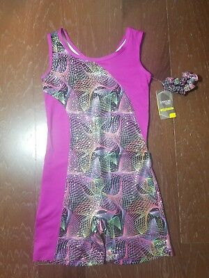 Danksin Now Performance Biketard With Strappy Back. Size: Large (10-12)