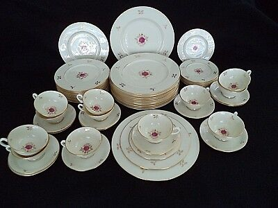 Lenox china Rhodora service for 12 place settings plates cups roses – ship free