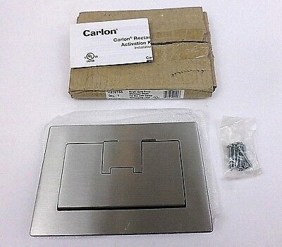 Carlon Lamson & Sessions E9761SS Rectangular Single Gang Cover, Stainless Steel