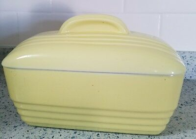 Vintage Hall REFRIGERATOR LOAF DISH Lid for Westinghouse CASSEROLE yellow, 40's