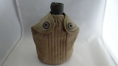 WW2 WWII Authentic US Army Issue 1944 Beco Canteen With Cover Belt Pouch