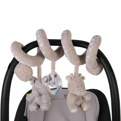 Bo Jungle B-Spiral Carrier Toy Bar Elephant and Giraffe Beige Mobile B990710