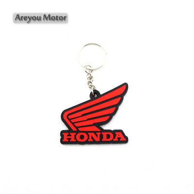Honda Wing Keyring Motor Bike Rubber Keychain Key Chain Key Ring Gift Cool Red