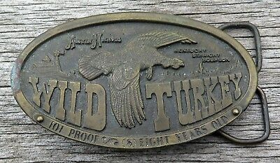 Wild Turkey Bourbon Austin Nichols Bergamot Whiskey Alcohol Vintage Belt Buckle