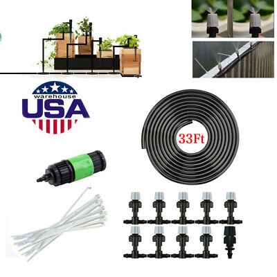Garden Patio Water Mister Air Misting Cooling Micro Irrigation System Sprinkle Q